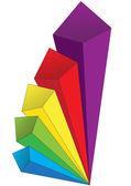 Colored volumetric arrows