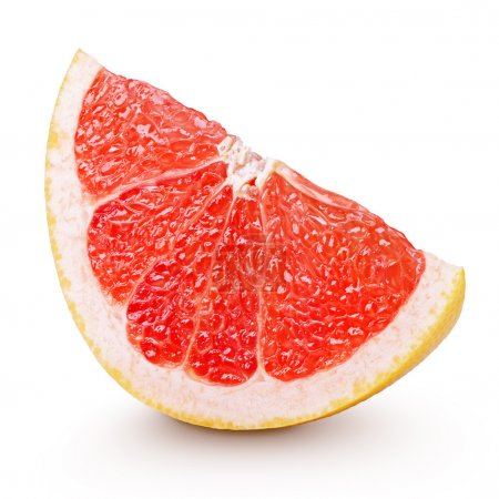 Photo for Slice of grapefruit citrus fruit isolated on white with clipping path - Royalty Free Image