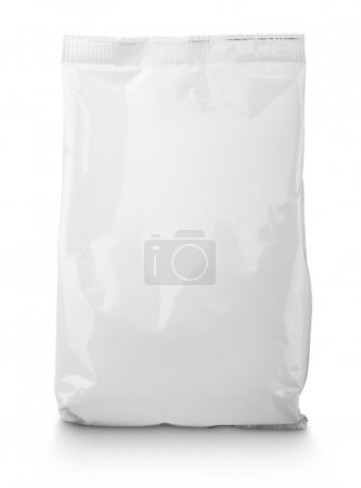 White blank Snack bag package