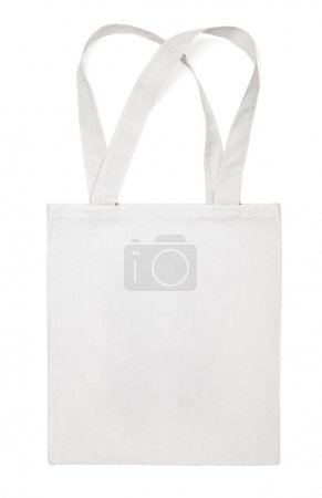 Fabric cotton eco bag on white