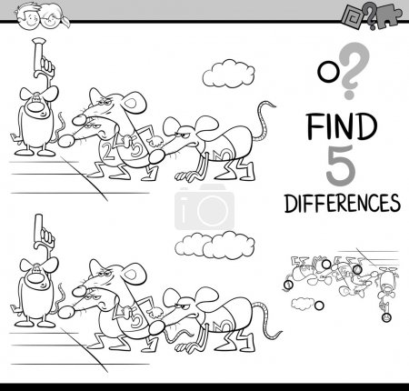 differences activity coloring book