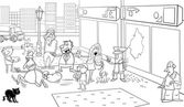 situation on street coloring page