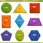 Cartoon Illustration of Basic Geometric Shapes Fun...