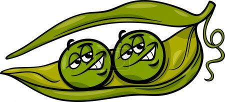 like two peas in a pod cartoon