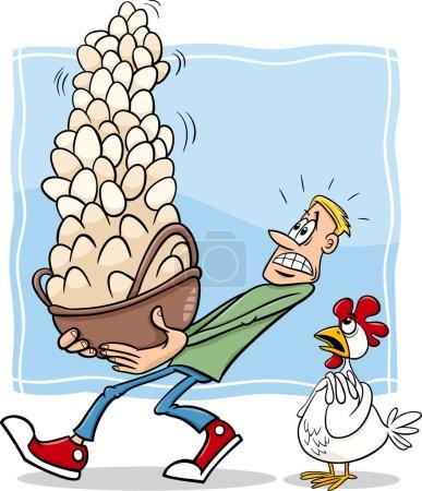 all eggs in one basket cartoon