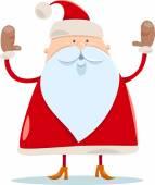 Cute santa claus cartoon illustration