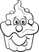 cupcake cartoon coloring page