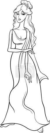 greek goddess aphrodite coloring page