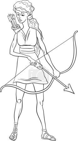 greek goddess artemis coloring page