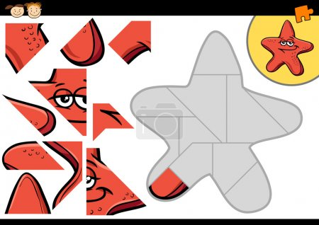 Cartoon starfish jigsaw puzzle game