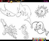 sea life cartoon coloring page