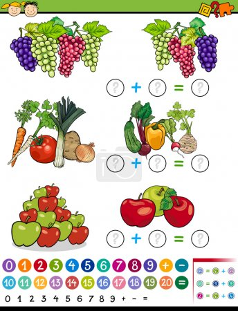 algebra game cartoon illustration