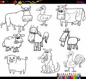 farm animals coloring bookd set