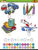 Постер задача мультик математика для малышей