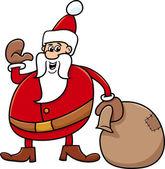 Santa s pytlem kreslený