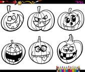 halloween pumpkins coloring page