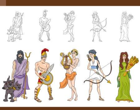 greek gods set illustration