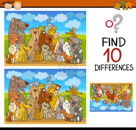 differences task for preschoolers