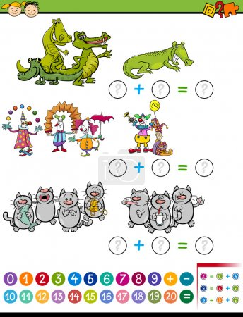 Addition task for preschool kids