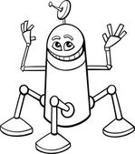 robot cartoon coloring book