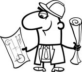 engineer cartoon coloring book