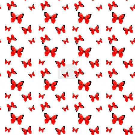 Red origami butterfly pattern
