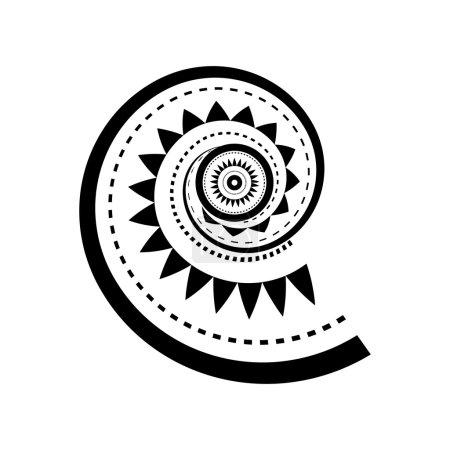 Illustration for Maori style spiral tattoo design - Royalty Free Image