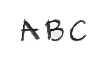 hand drawn chalk a, b, c