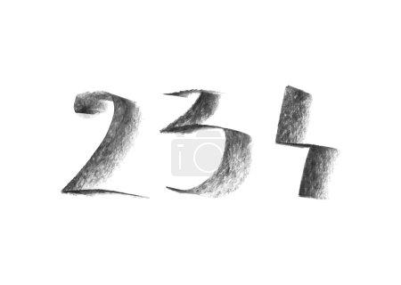 Hand drawn chalk numbers