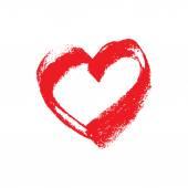 hand drawn chalk heart