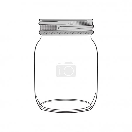 Hand drawn jar