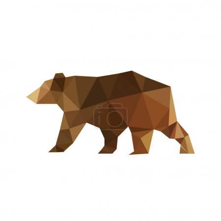 Design with origami bear