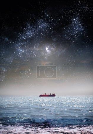 Night landscape, the sky