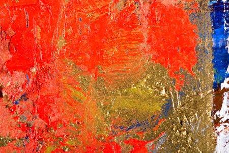 Foto de Fondo abstracto grunge oro de arte. Fragmento de una pintura original. Óleo sobre lienzo - Imagen libre de derechos