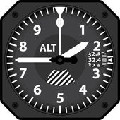 Vector illustration of analogical aircraft altimeter