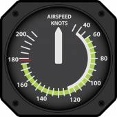Vector illustration of analogical aircraft airspeed indicator