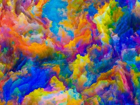 Photo pour Couleurs de la série Imagination. abstraction artistique composée de textures tridimensionnelles vives sur le sujet design, créativité, imagination et art - image libre de droit