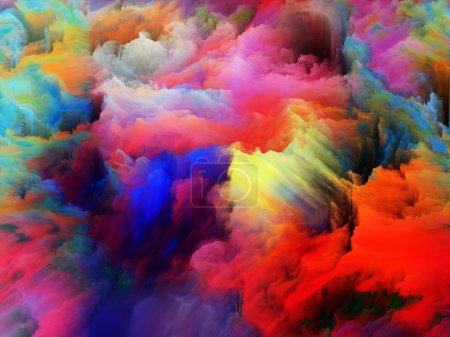 Photo pour Tragédie de la série Color. Arrangement de formes pures et vibrantes au sujet de l'art, de la passion, de la spiritualité et du monde intérieur - image libre de droit