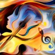 Inner Melody series. Backdrop of colorful human an...