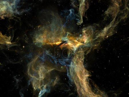 Photo pour Il était une fois dans l'espace. Disposition des nuages fractaux au sujet de l'Univers, du cosmos, de l'astronomie, de la science et de l'éducation - image libre de droit