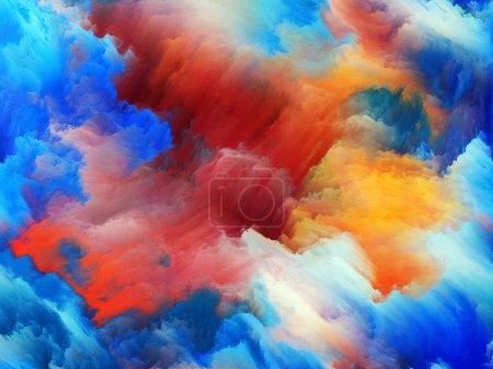 Photo pour Tragédie de la série Color. Conception abstraite faite de formes de couleurs pures sur le sujet de l'art, la passion, la spiritualité et le monde intérieur - image libre de droit