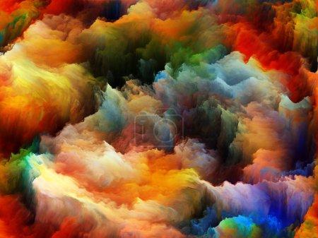 Photo pour Tragédie de la série Color. Composition de formes de couleurs pures au sujet de l'art, de la passion, de la spiritualité et du monde intérieur - image libre de droit
