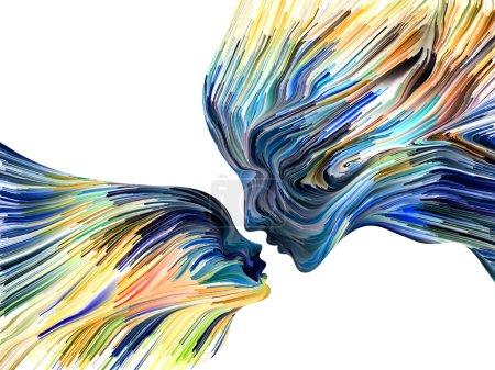 Photo pour Couleurs de la série Imagination. Interaction de stries de couleurs au sujet de l'art, de la créativité, de l'imagination et du graphisme - image libre de droit