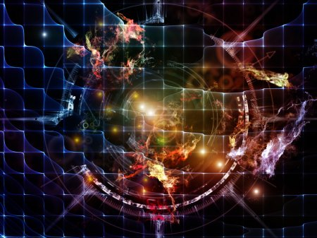 Photo for Orbits of Destiny series. Abstract arrangement of sacred symbols, signs, geometry and designs suitable as background for projects on astrology, alchemy, magic, witchcraft and fortune telling - Royalty Free Image