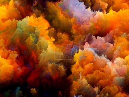 Photo pour Série Dynamic Color. abstraction artistique composée de nuages fractaux colorés et des éléments graphiques sur le sujet des forces de la nature, l'art, le design et la créativité - image libre de droit