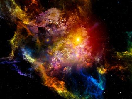 Photo pour Dead Remember série. Composition visuellement agréable de formes et de couleurs nébuleuses et organiques pour servir de toile de fond dans les œuvres sur l'esprit, le rêve, la spiritualité et l'imagination - image libre de droit