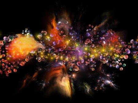 Molecular Dreams series. Composition of conceptual...