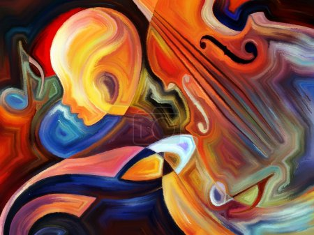 Inner Melody series. Arrangement of colorful human...