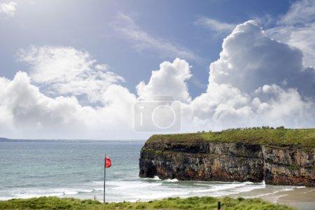 red flag above ballybunion beach