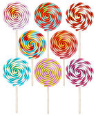Lollipops collection Candy on stick with twisted design EPS 10 vector file included